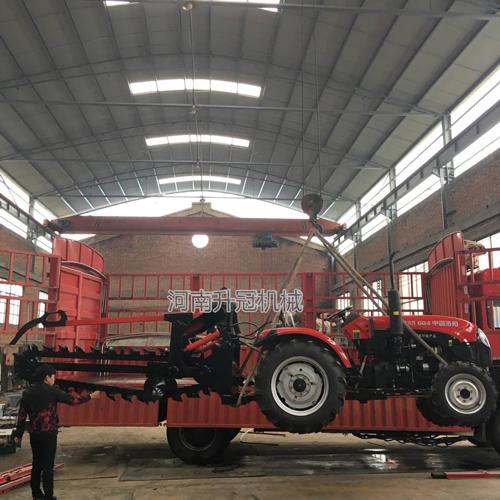 拖拉机改装挖沟埋设电缆开沟机