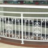 淄博仿木纹阳台栏杆,烤漆飘窗围栏,欧式别墅护栏,组装玻璃护栏