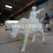 牧童骑黄牛雕塑图片