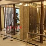 银川酒店 别墅 KTV装饰装潢不锈钢镀钛定制豪华酒屏风 隔断