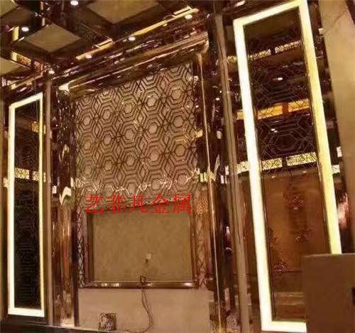 青岛厂家直销 客厅彩色不锈钢板 不锈钢工艺屏风 客厅玄关 不锈钢工艺屏风