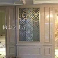 荆州 酒店/会所拉丝玫瑰金镂空不锈钢金属屏风隔断