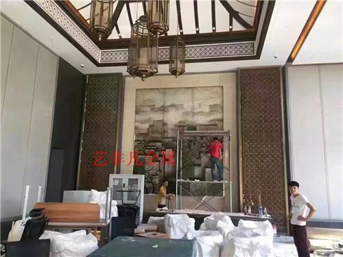 包头【新品上市】豪华精美铝雕花屏风 客厅家具铝屏风 厂家批发