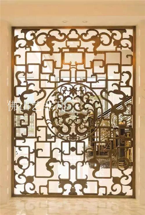 绵阳铝板雕刻屏风制作 酒店艺术镂空浮雕雕花屏风花格