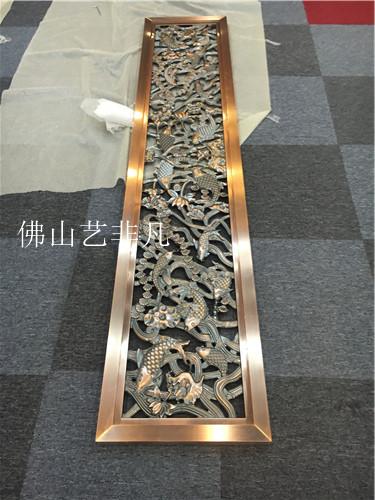 柳州整体搭配不同 铝艺屏风雕刻隔断图片定做不同