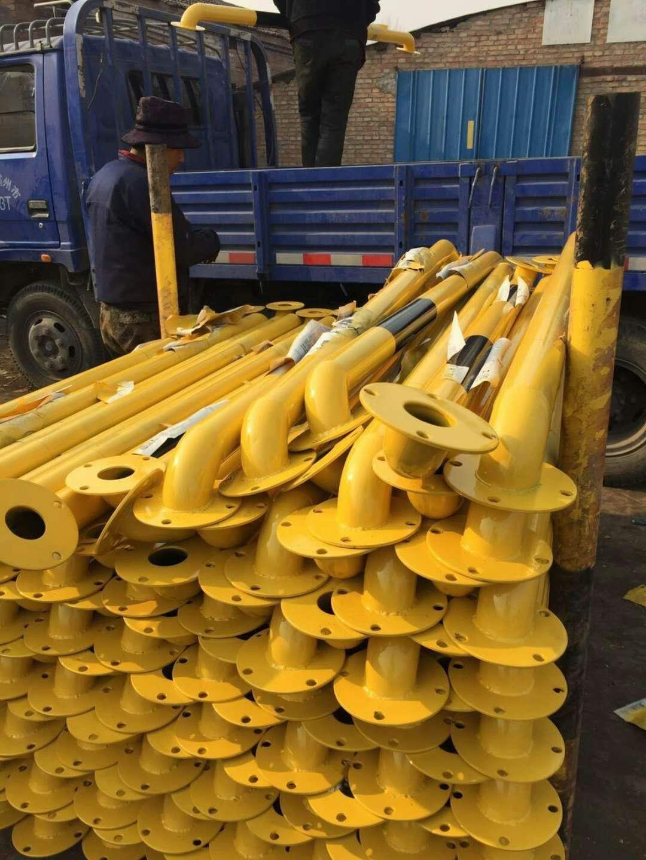 车轮挡车杆价格优质铸铁挡车杆批发黄色铸铁挡车杆厂家
