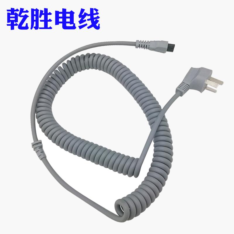 生产厂家医疗机器设备电源线超软医疗器械连接线螺旋线可定制加工