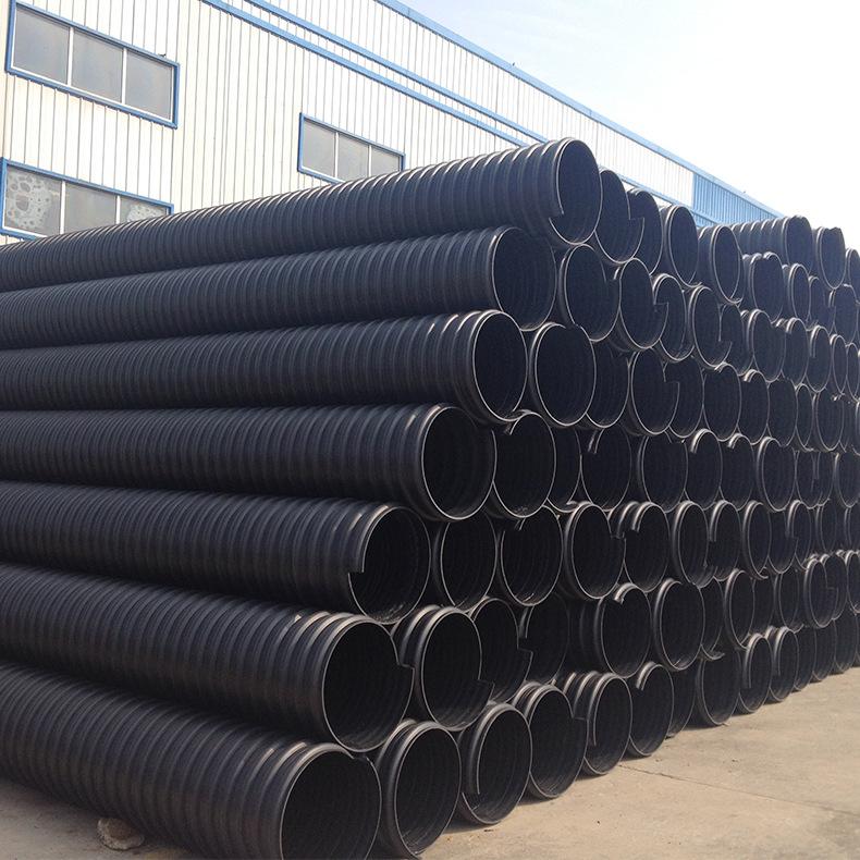批发 钢带管 聚乙烯hdpe钢带增强螺旋波纹管 pe钢带排水管DN1000