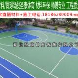 襄阳篮球场地面铺设材料 襄阳环保水性硅PU篮球场施工