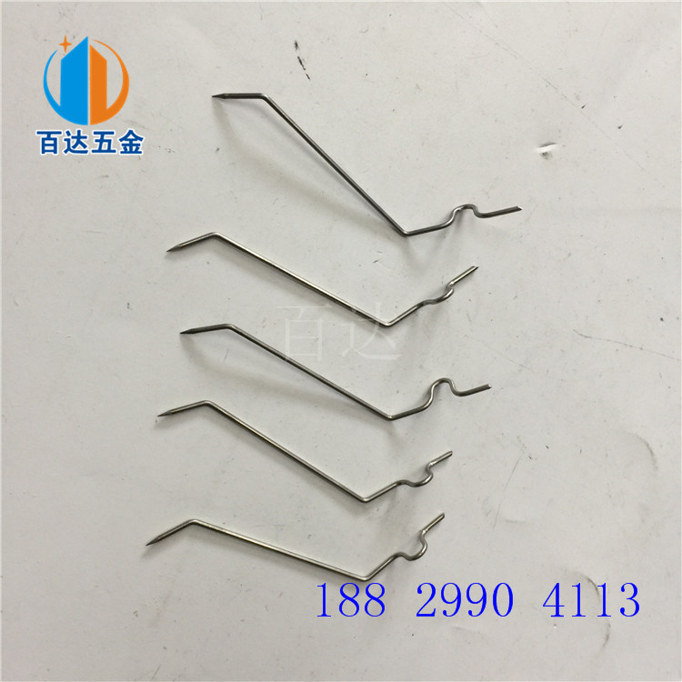 不锈钢折弯夹 喷塑膜电子产品挂具 铁线五金配件焊接 电镀加工表面处理