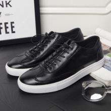 男士休闲鞋皮鞋厂家 商务休闲皮鞋贴牌加工 支持批发、来样定制、微商代理 休闲皮鞋图片