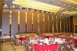 西安厂家125型超高型宴会厅移动隔音墙专业定制