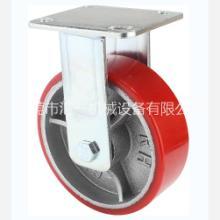 万向PU轮 聚氨酯脚轮规格 重型6寸万向铁芯包胶聚氨酯脚轮 设备推车脚轮批发