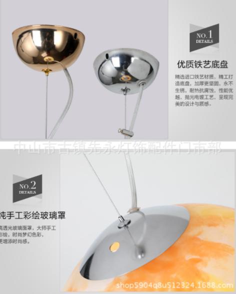 供应3D彩绘吊灯 直销3D彩绘吊灯 壁灯 吊灯 水晶吸顶灯