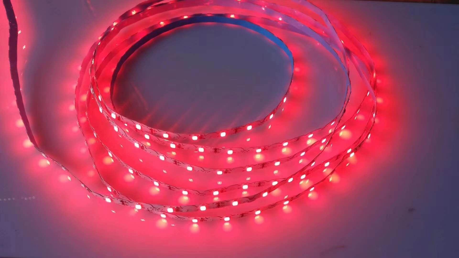 led灯带2835迷你发光字12v光源S型软灯带高亮树脂字贴片软灯条