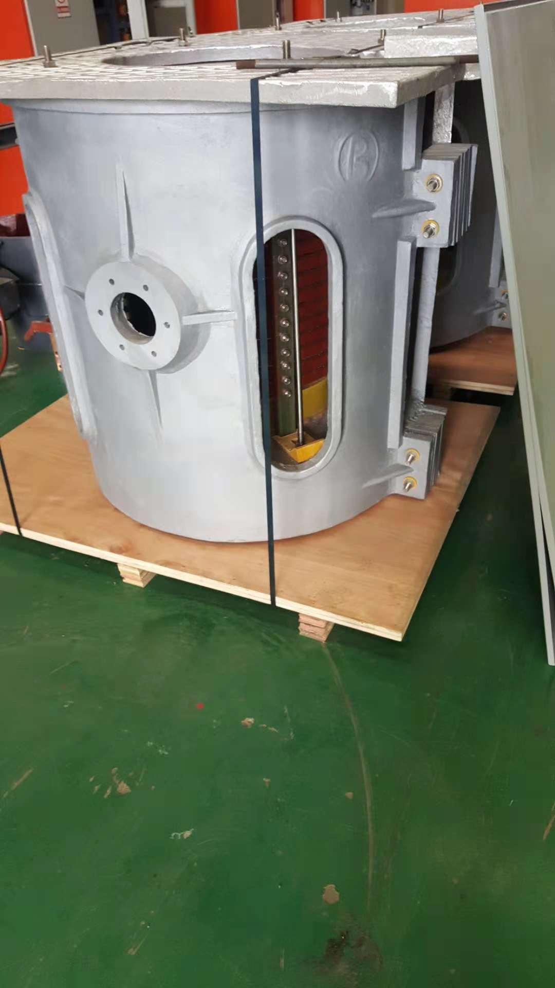 河南1吨钢壳中频炉-专业中频熔炼电炉设备-哪里有中频熔炼炉-2018小型熔炼炉  1吨钢壳中频炉