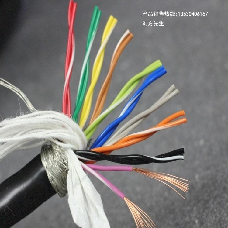 20芯柔性拖链电缆TRVSP10×2×0.2平方双绞屏蔽防油耐弯折线缆