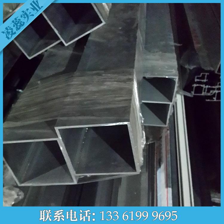 铝方管80*80*6现货铝合金管4.3米和6米本色铝型材