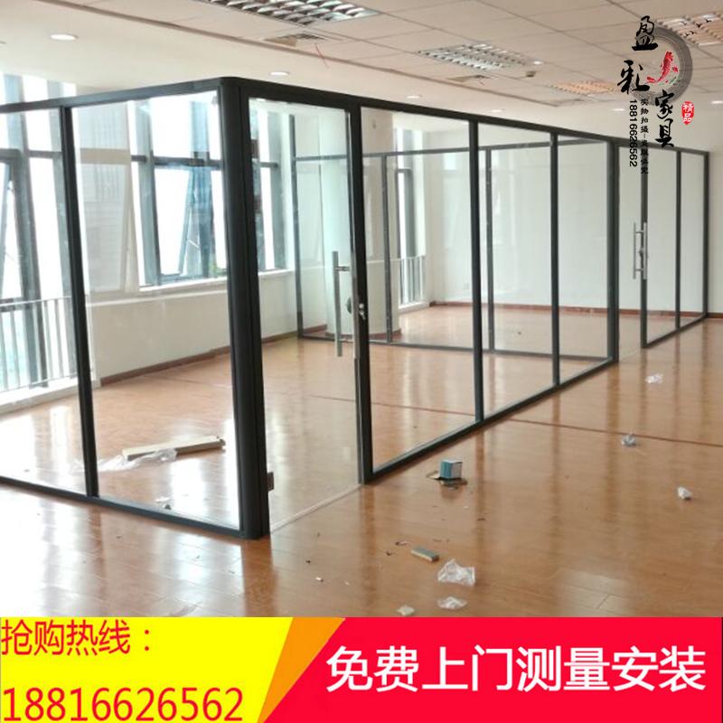 办公室玻璃隔断墙高隔断隔间墙厂房钢化玻璃隔墙门屏风简约现代透明房间隔断墙装修