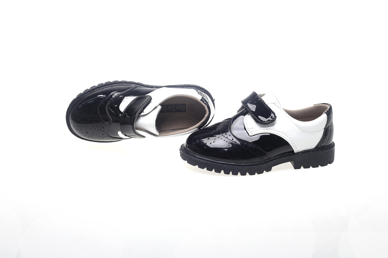 全黑童皮鞋 童皮鞋报价 童皮鞋供应商 魔术贴童皮鞋 童皮鞋出厂 童皮鞋 系带童皮鞋报价  孔洞黑白童皮鞋