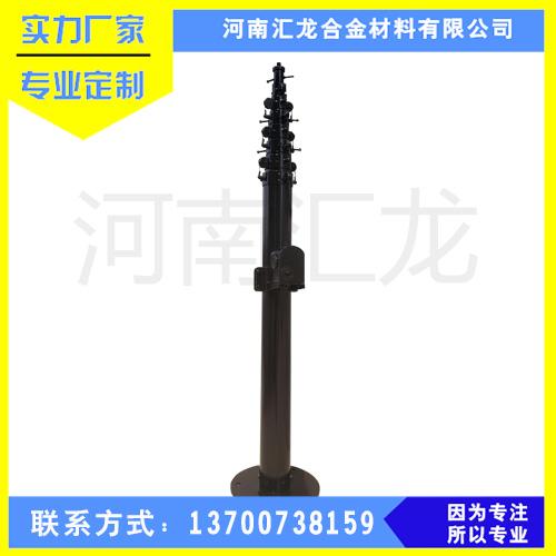 汇龙12米碳纤维升降杆 气动升降杆 安装各高度天线升降杆