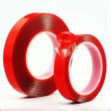 批发 透明红膜亚克力双面胶 防水耐温强力VHB双面胶 可模切定做批发