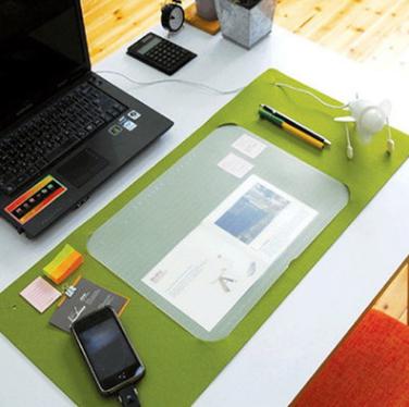 厂家批发多功能毛毡鼠标垫,定制办公桌垫,韩版桌面键盘垫,加logo 毛毡垫