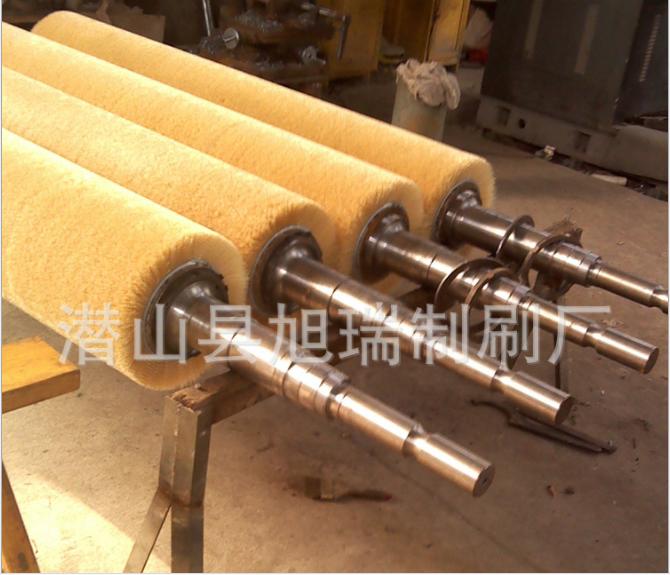 毛刷厂供应磨料丝毛刷,机械研磨毛刷辊 抛光毛刷辊 钢板打磨刷辊
