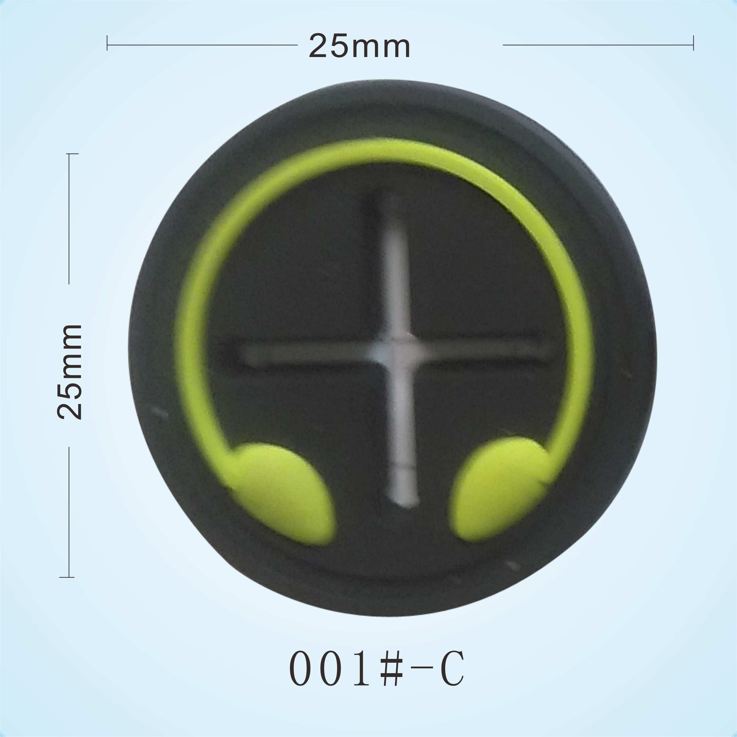 厂家供应耳机孔胶标 服装功能耳机孔胶章 十字耳机孔颜色可定制 PVC软胶十字耳机孔