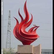 不锈钢抽象凤凰雕塑图片