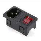 供应自产AC电源插座带开关双保险 AC-01电源插座