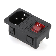 供应自产AC电源插座带开关双保险 AC-01电源插座图片