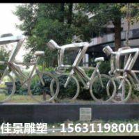 不锈钢赛车雕塑
