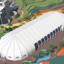 成都充气膜建筑设计 张拉膜结构安装厂家 绵阳市膜结构景观