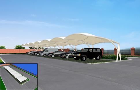 四川膜结构车棚厂家 膜结构汽车棚订做 自行车棚膜结构厂家