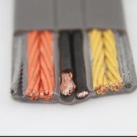广东电梯随行电缆 16芯扁线 带钢丝电梯随行电缆