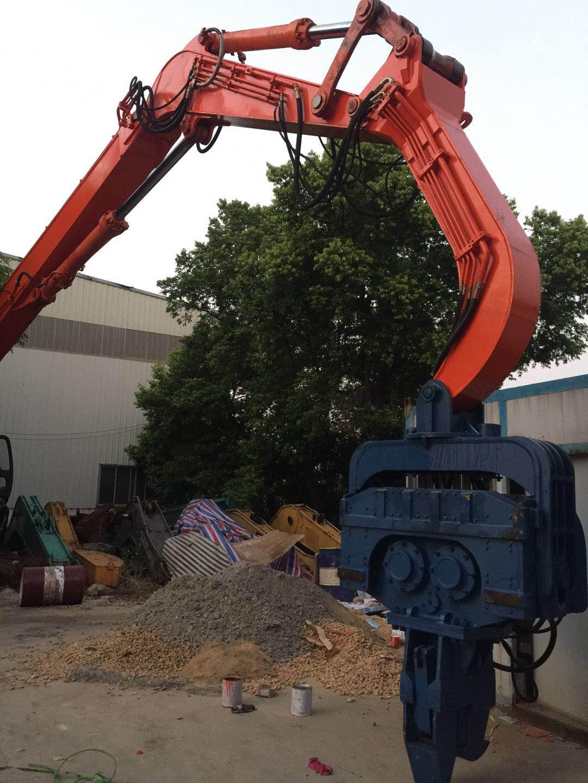 专业打桩臂9米至18米钢板桩、改装日立470打桩臂、液压打桩锤、13米15米打桩臂改装厂 挖机桩机锤