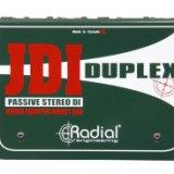 Radial JDI Duplex 立体声无源 DI 直插盒 单通道DI盒 无源立体声ID盒 吉他DI盒 乐器直插盒