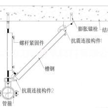 成都抗震支吊架DN65抗震支架多管机电抗震支吊架风管抗震