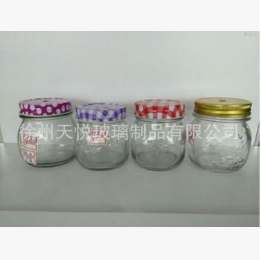 玻璃瓶生产厂家(定制)批发供应500ml罐头瓶玻璃瓶量大从优 罐头瓶厂家定做 江苏罐头瓶厂家定做