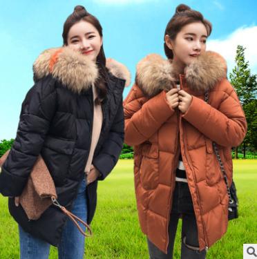 新款棉服女中长款面包服棉袄女2018韩版宽松加厚学生棉衣一件代发