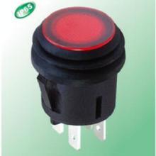 卡件安装嵌入式汽车防水按键开关_IP65防水带灯大电流按钮开关批发