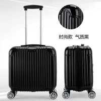 深圳厂家定制款18寸刹车轮登机箱 拉链行李箱批发 小箱子万向轮拉杆箱3008报价