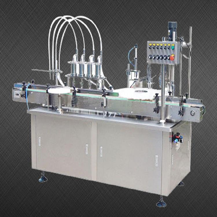 供应全自动口服液灌装旋盖一体机 西林瓶液体灌装联动机