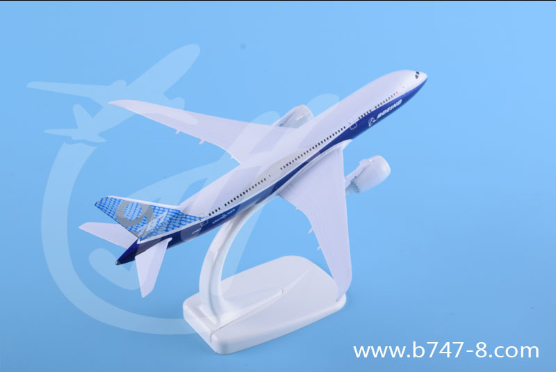 飞机模型B787-9波音原型机金属静态航模摆件促销广告礼品收藏玩具18cm