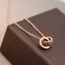 河南五皇一后行运珠宝供应 钛合金爱的印记时尚项链 批发零售
