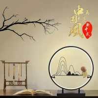 新中式禅意台灯批发 书房酒店客房卧室床头灯直销 中国风创意小礼品装饰灯具 T8802-M 报价