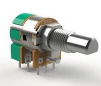 厂家生产12mm圆形金属柄直脚双联带开关电位器8脚直插音响电位器 12MM金属柄圆形双联开关电位器