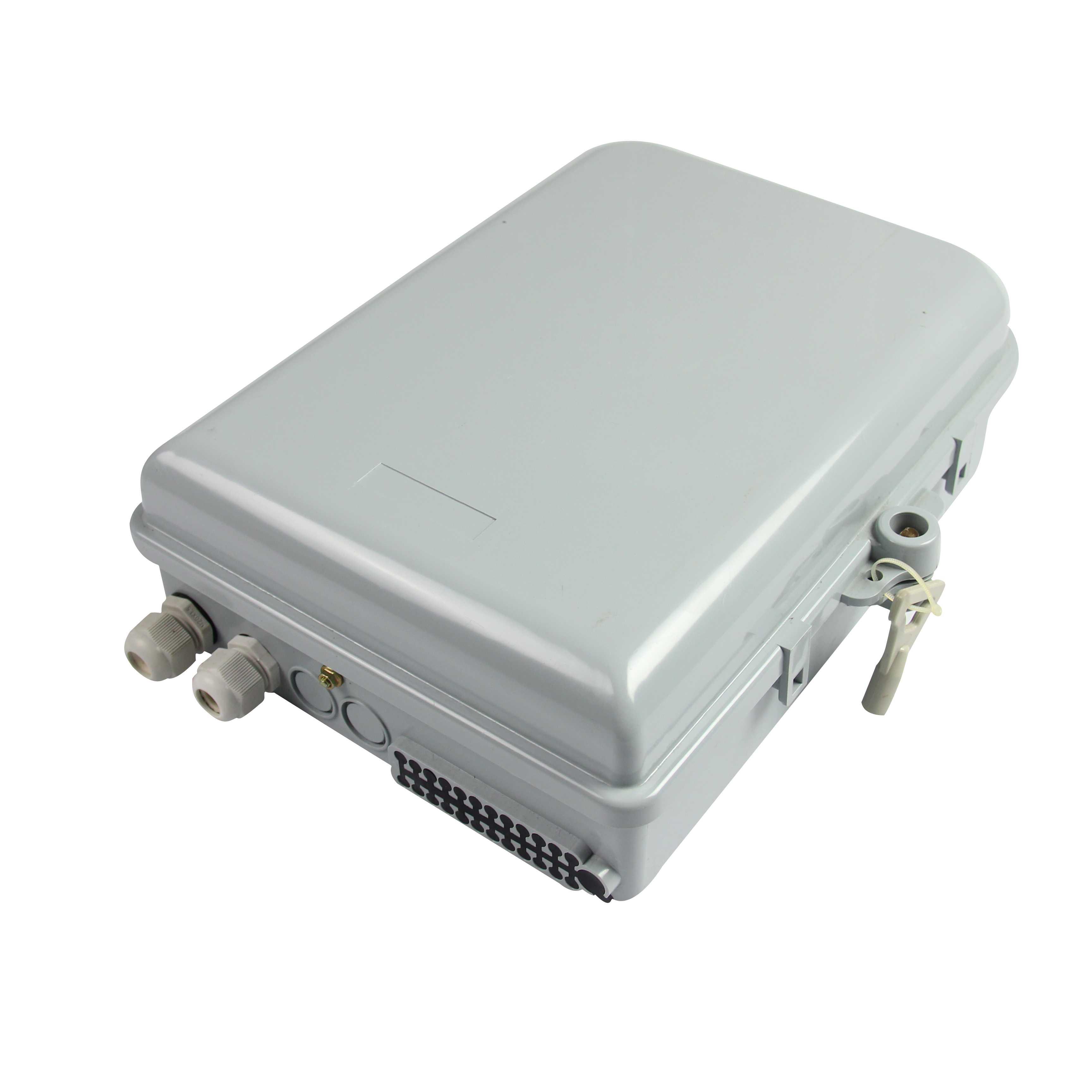 新款12芯塑料分纤箱,光分路器箱