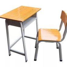 单人钢木课桌椅参数-钢木结构学生课桌椅 学校课桌椅批发